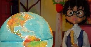 Spectacle de marionnettes, le parchemin des sens, pour un Noël du personnel (02)