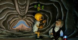 Pinocchio, en spectacle de marionnettes pour la fête de Noël d'un comité d'entreprise (78)