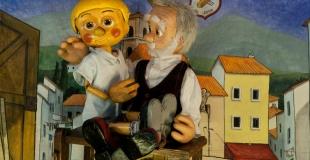 Pinocchio en spectacle de marionnettes pour un arbre de Noël (91)